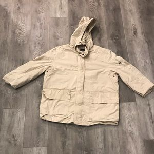 a2eb5ddce2e1 Hugo Boss Rain Coat Jacket Zip Up Beige Khaki Mens